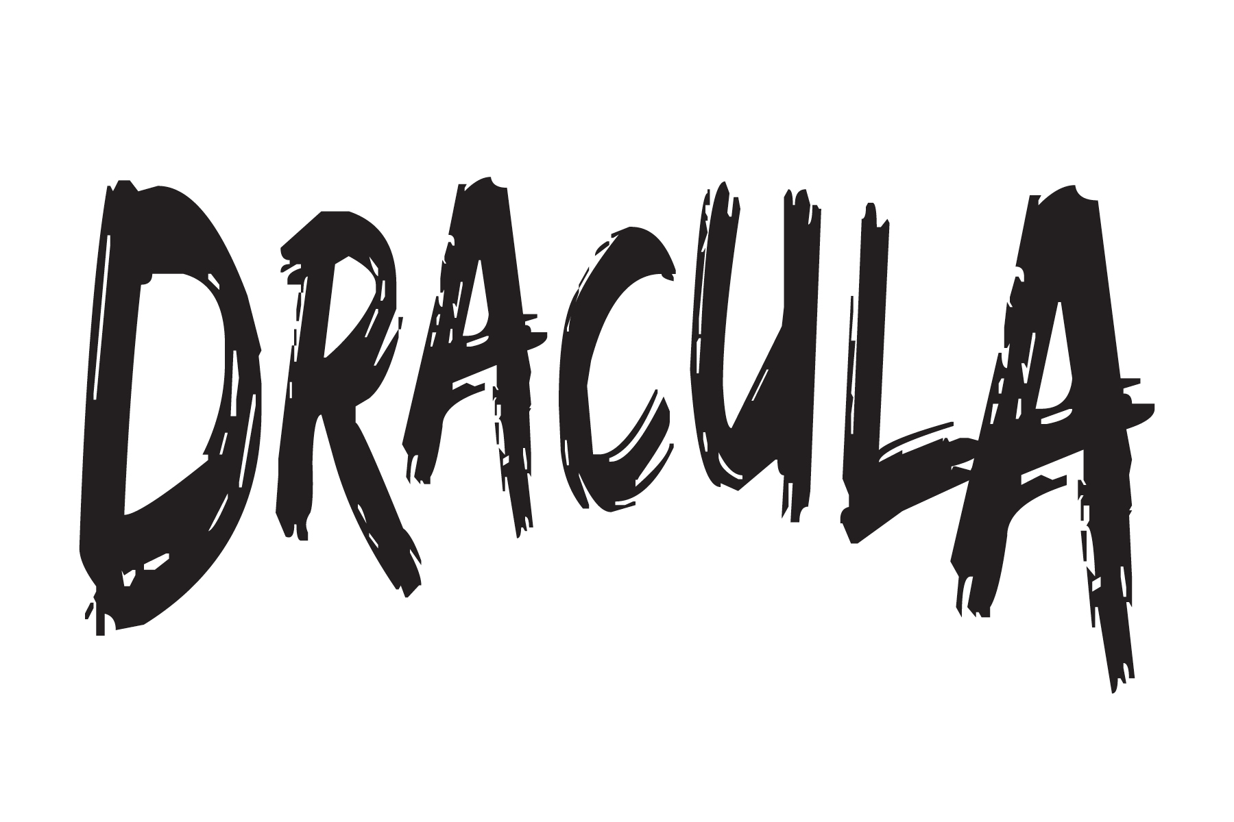 Dracula Title Treatment